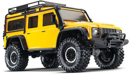 Picture of Traxxas 82056-4 - TRX-4 Scale & Trail Defender Crawler RTR Yellow