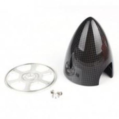 "Picture of 6Star Hobby CSPN175 Carbon Fibre Bullet Spinner  1.75"" (44.5mm)"