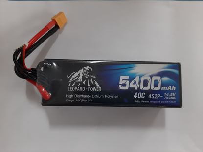 Picture of Leopard Power 4s 14.8v 5400mah 40c Lipo Battery with XT60- HS