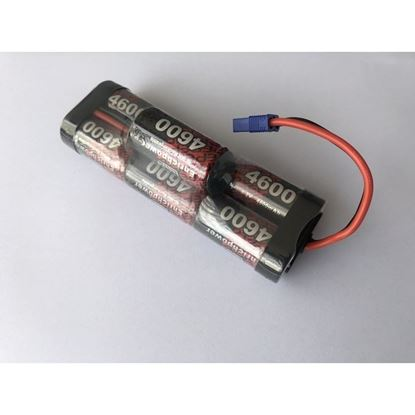 Picture of EnrichPower 8.4V 4600mAh NI-MH Sub C Hump pack w/EC3Plug