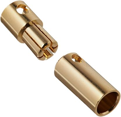 Picture of 5.5mm Gold Bullet Connector 1x Pair