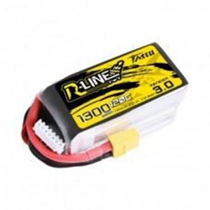 Picture of Tattu R-Line Version 3.0 1300mAh 22.2V 120C 6S1P Lipo Battery Pack with XT60 Plug