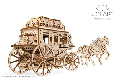 Picture of UGEARS 120730 'Stagecoach' mechanical model kit