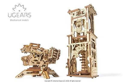 Picture of UGEARS 120754 Archballista-Tower mechanical model kit