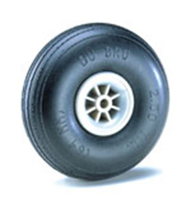 "Picture of Du-Bro 250T 2-1/2"" Dia. Treaded Low Bounce Wheels (2)"