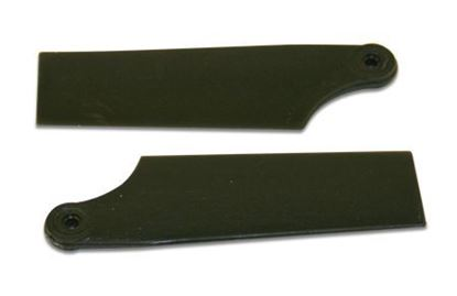 Picture of KBDD 4058 70mm Black Plastic Tail Blades Atom 500/ Lepton  Size