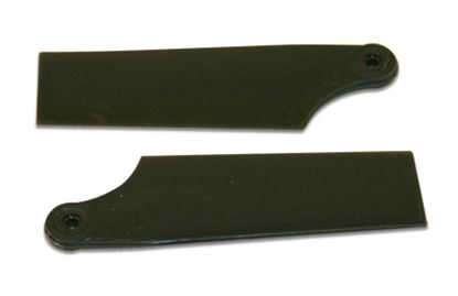 Picture of KBDD 4068 40mm Black Plastic Tail Blades T-Rex 250 Size