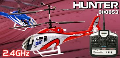 Picture of E-Sky 000053-M2-R 2.4GHz HUNTER RTF Helicopter - Red