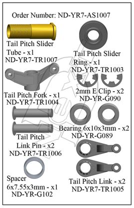 Picture of CYB ND-YR7-AS1007 - Tail Pitch Slider Assembly R7