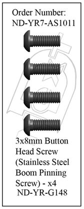 Picture of CYB ND-YR7-AS1011 - Boom Pinning Screw Set R7