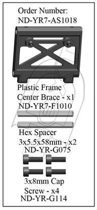 Picture of CYB ND-YR7-AS1018 - Plastic Center Frame Brace Set R7