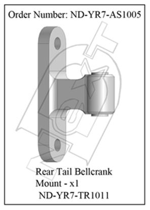 Picture of CYB ND-YR7-AS1005 Rear Tail Bellcrank Mount R7