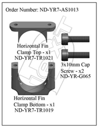 Picture of CYB ND-YR7-AS1013 Horizontal Fin Clamp Set R7