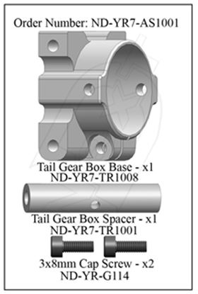 Picture of CYB ND-YR7-AS1001 Tail Gear Box Base Set R7