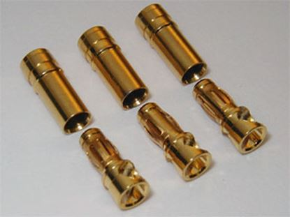Picture of 3.5mm Gold Bullet Connector Plug (3 Pairs)