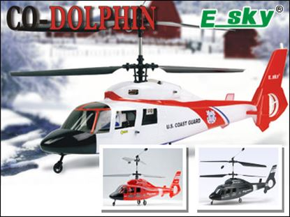 Picture of E-Sky 000008-R Co-Douphin 2.4GHz RTF Helicopter - Red