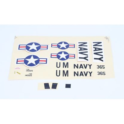 Picture of ParkZone PKZU1502 Decal Sheet: UM T-28