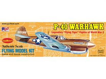 Picture of Guillow's 0501 Balsa WWII P-40 Warhawk (Rubber Band Powered)