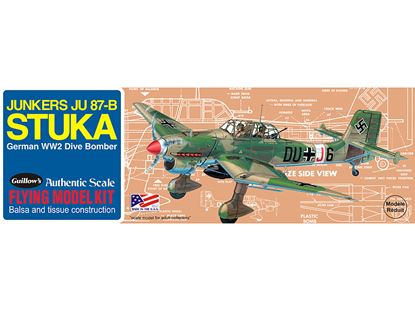 Picture of Gullow's 0508 Junkers JU-87B Stuka rubber band powered
