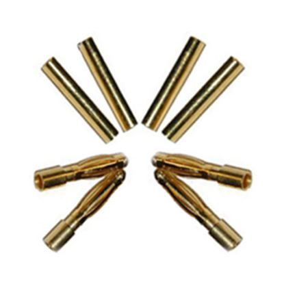 Picture of 2.0mm Gold Bullet Connector Plug (3 pairs)