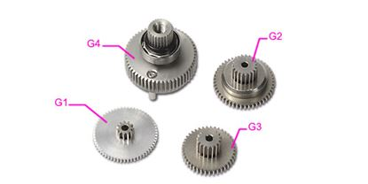 Picture of HSP70001 BL700H Servo Gear Set
