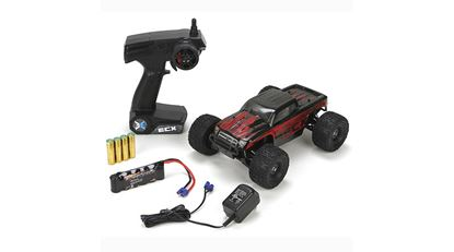 Picture of ECX ECX01000T1 Ruckus 1/18 4WD Monster Truck RTR BLACK