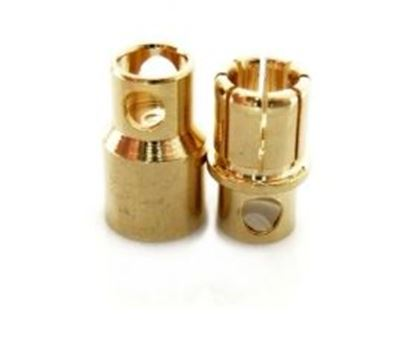 Picture of 8.0mm Gold Bullet Connector 1x Pair
