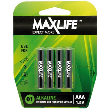 Picture of Maxlife BATAAA-A4 Alkaline AAA Batteries 4 Pack