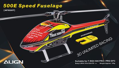 Picture of HF5020 500E Speed Fuselage – Red & Yellow