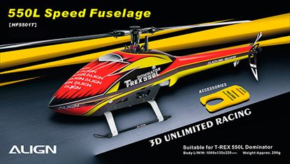 Picture of HF5501 550L Speed Fuselage – Red & Yellow