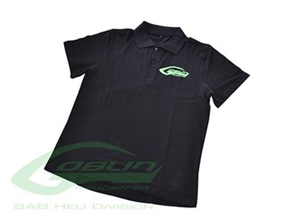 Picture of HM027-XL SAB HELI DIVISION Black Polo - Size XL