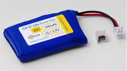 Picture of Hyperion 1S 240mAh 3.7v 1S Cell w/plug for PKZ/EFL