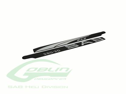 Picture of SAB BL380-3DW - Black Line Carbon Fiber Main Blades 380mm