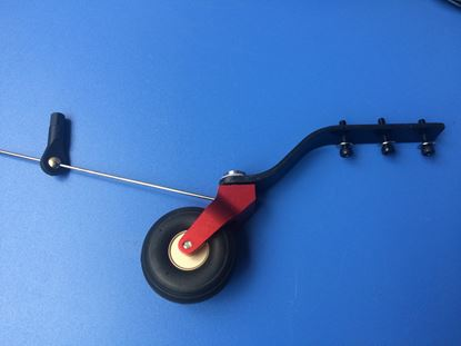 Picture of KUZA KAGC109 CNC Alloy & C.F tail wheel assembly V2 85-120CC