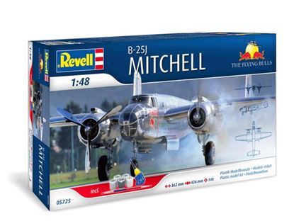 Picture of REVELL RV05725 B-25J Mitchell Flying Bulls gift set
