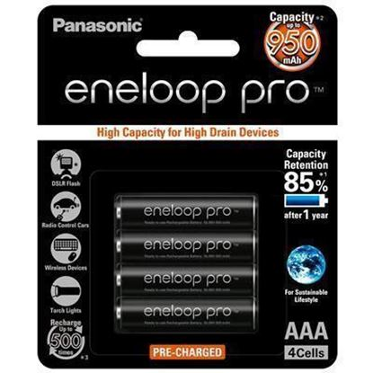Picture of Panasonic BK-4HCCE/4BT Eneloop PRO AAA 4 Pack 950mAh