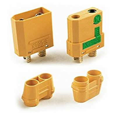 Picture of Amass Anti Spark Connector Male/Female XT90-S