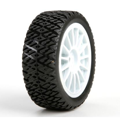 Picture of LOSI LOS41006 FF/RR Gravel Spec Tire,(2) Mounted: Mini Rally