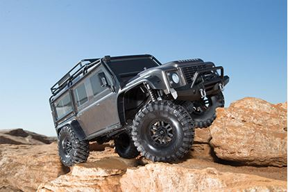 Picture of Traxxas 82056-4 - TRX-4 Scale & Trail Defender Crawler RTR Gunmetal