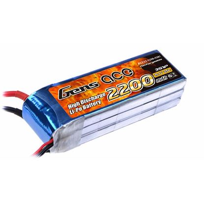Picture of Gens Ace 2200mAh, 11.1V, 3S1P, 25C, With EC3