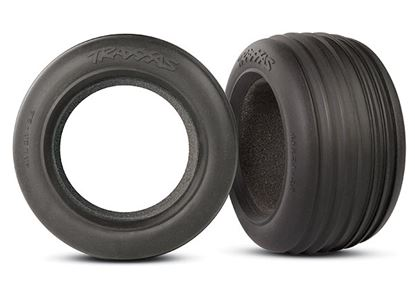 "Picture of Traxxas 5563 - Tires, ribbed 2.8"" (2)/ foam inserts (2)"