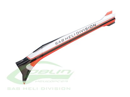 Picture of SAB H0724-S - Carbon Fiber Tail Boom Silver/Carbon Urukay