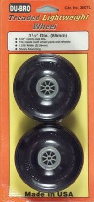 "Picture of Du-Bro 350TL 3-1/2"" Dia. Lightweight Treaded Wheels"