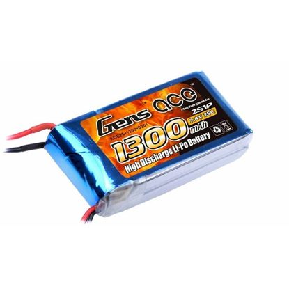 Picture of Gens-Ace 1300mAh 2S, 7.4v, 25C  With XT60 Plug