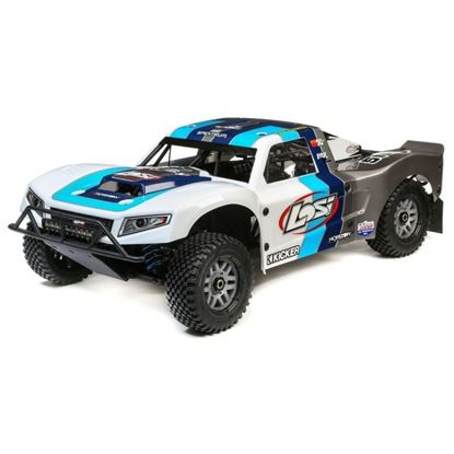 Picture of LOSI LOS05014T1 1/5 5IVE-T 2.0 4wd SCT Gas BND: Grey/Blue/White