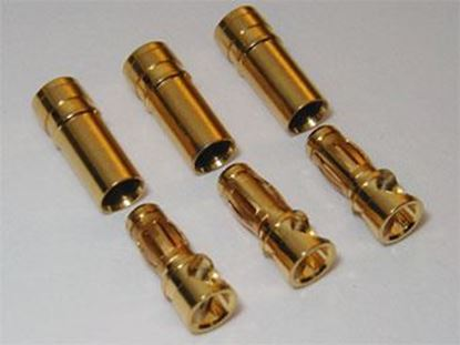 Picture of 3.0mm Gold Bullet Connector Plug (3 Pairs)