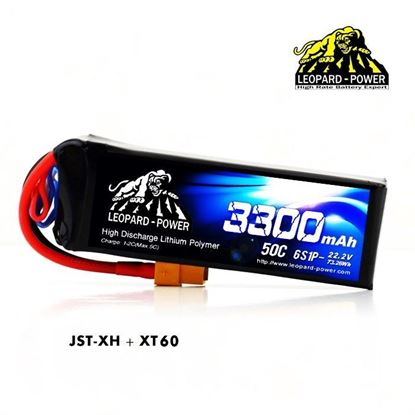 Picture of Leopard Power 6s 22.2v 3300mah 50c XT60 Lipo Battery