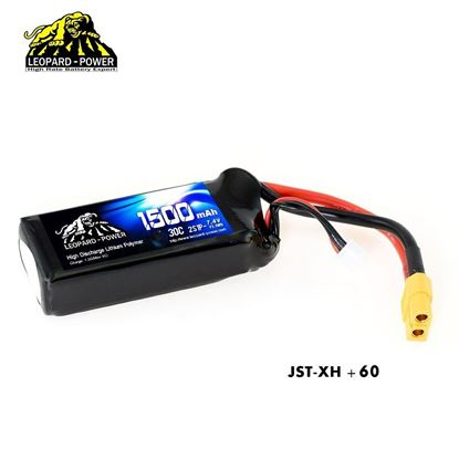 Picture of Leopard Power 2s 7.4v 1500mah 30c XT60 Lipo Battery