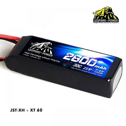 Picture of Leopard Power 2s 7.4v 2600mah 30c XT60 Lipo Battery