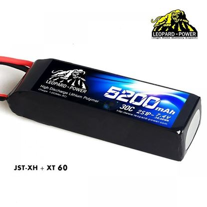 Picture of Leopard Power 2s 7.4v 5200mah 30c XT60 Lipo Battery